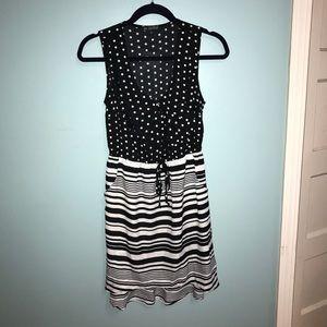 Polka dot striped dress